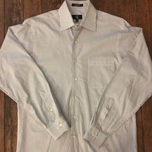 Calvin Klein Striped Men's Dress Shirt with Pocket